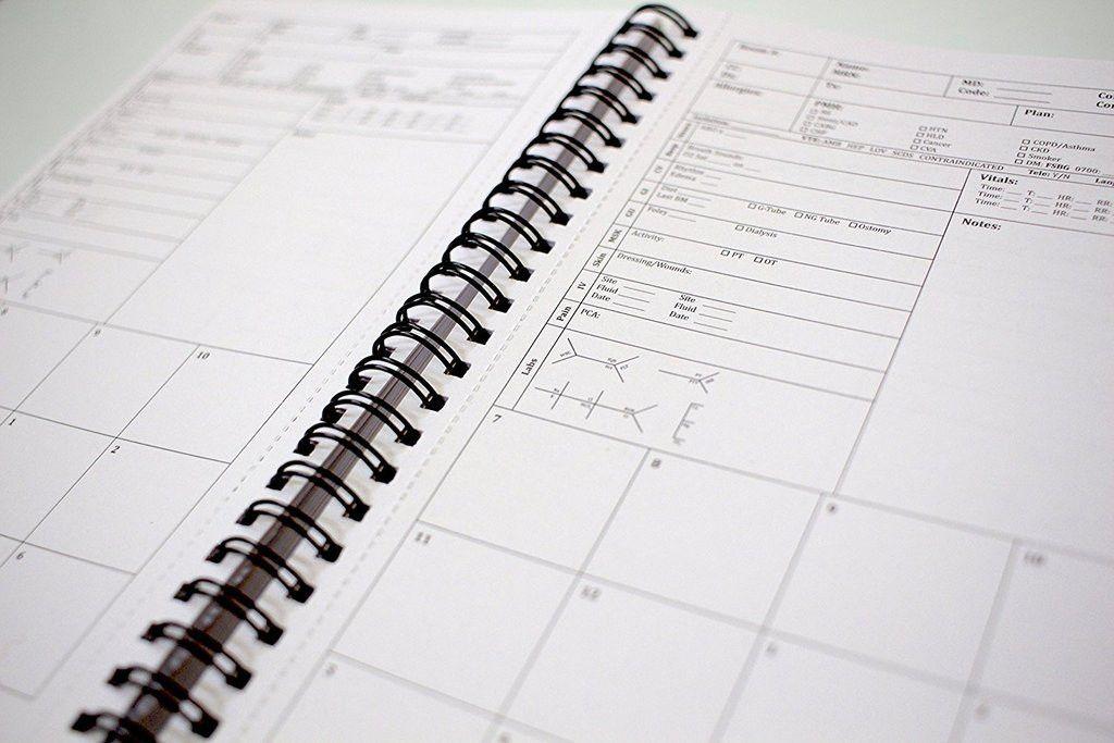 Pocket Nurse Report Sheet Notebook - Brain Sheet Template for ...
