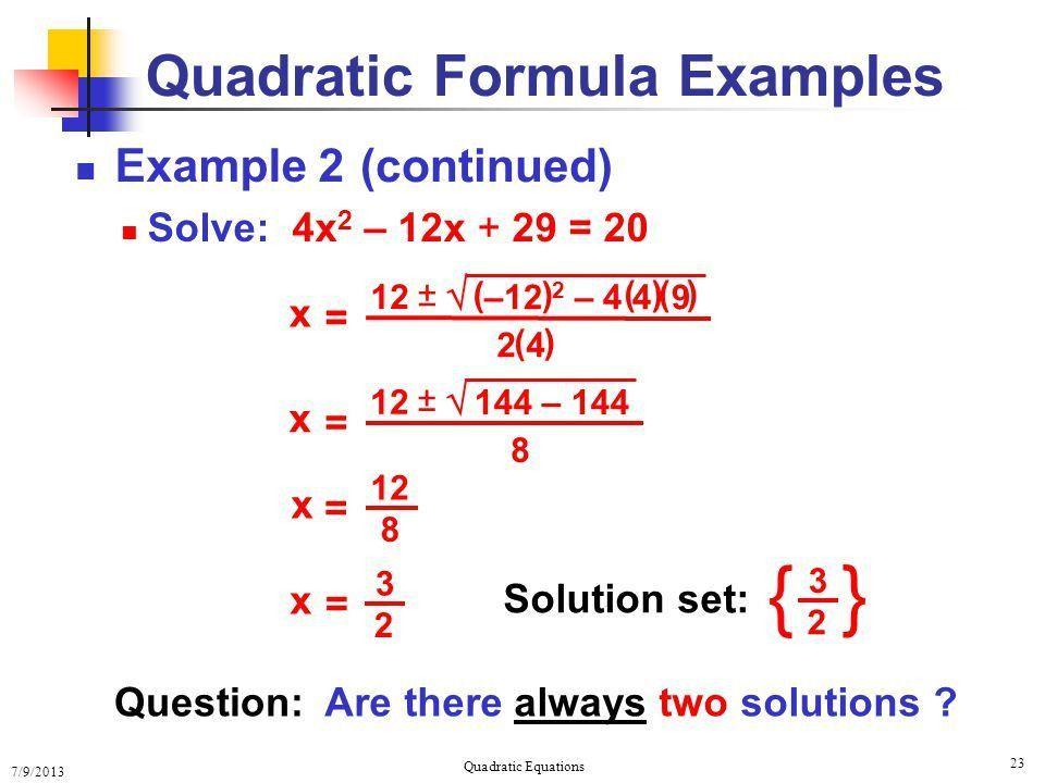 Solving Quadratic Equations Solving Quadratic Equations - ppt download