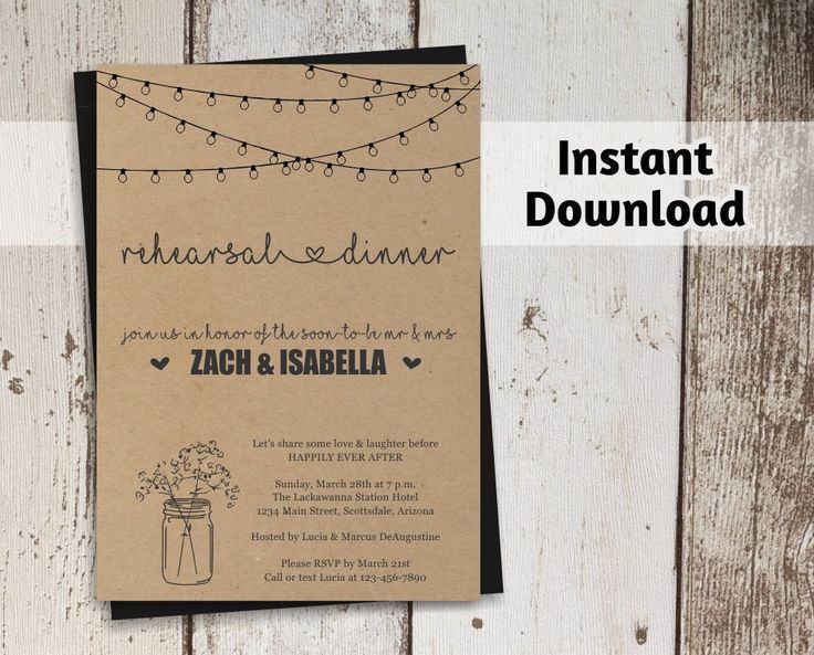 2612 best Rehearsal Dinner Invitations images on Pinterest ...