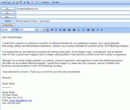 Cover Letter Design : Experience Sample Email Cover Letter ...