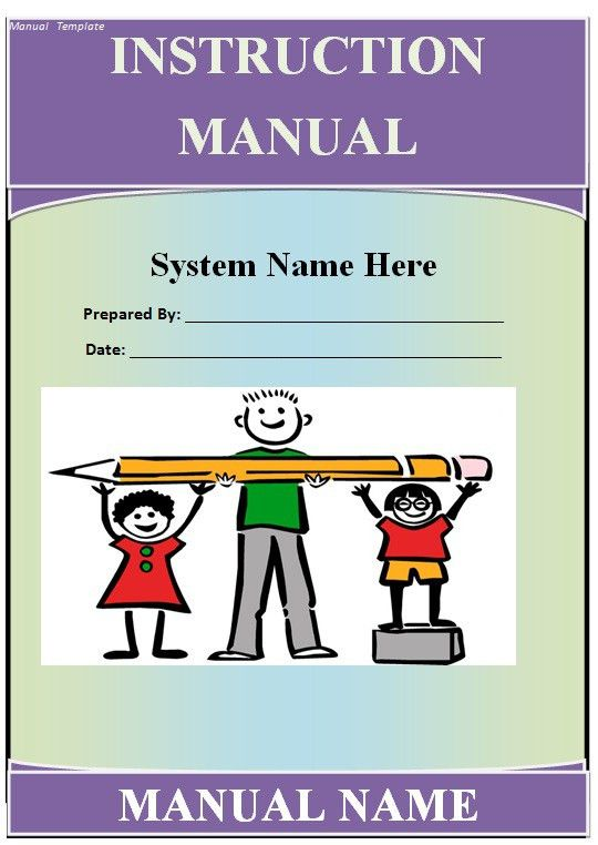 Manual Templates - Free Manual Templates & Designs