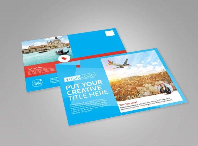 Awesome Travel Agents EDDM Postcard Template | MyCreativeShop