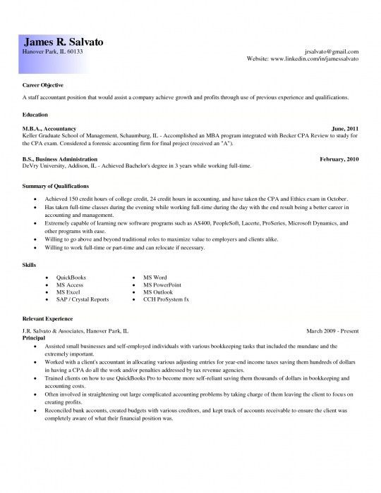 Entry Level Resume Example. Resume Profile Examples Entry Level ...