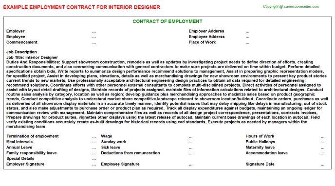 Interior Design Employment Contracts