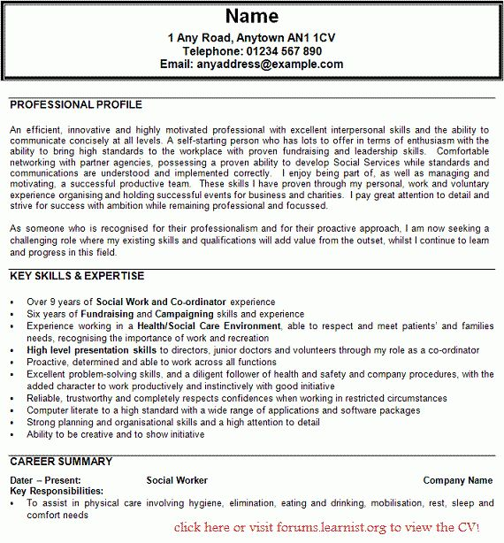 100+ [ Msw Sample Resume ] | Best 25 Sales Resume Ideas On ...
