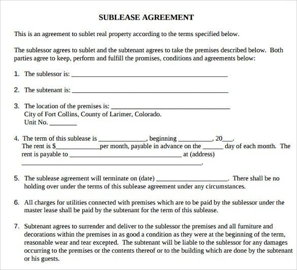 Printable Lease Agreement - 6+ Documents Download For Free In PDF ...