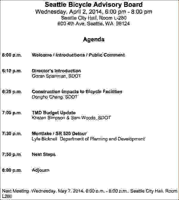 11 How To Create A Meeting AgendaAgenda Template Sample | Agenda ...