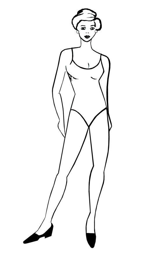 Elegant Pose Fashion Drawing Templates - Free Fashion-Templates 2