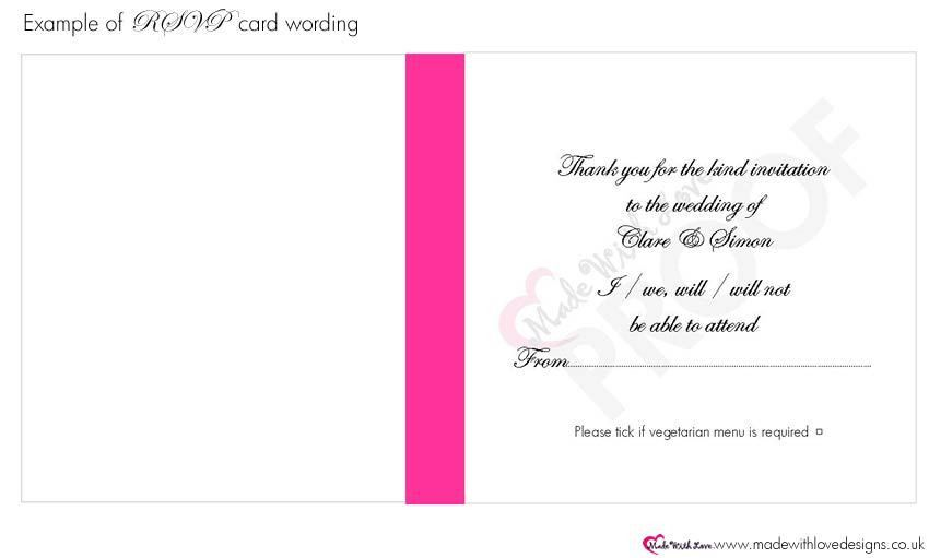 Made With Love Wording for RSVP Cards - Wording Templates & what ...