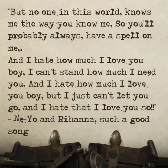 And I Hate How Much I Love You Lyrics