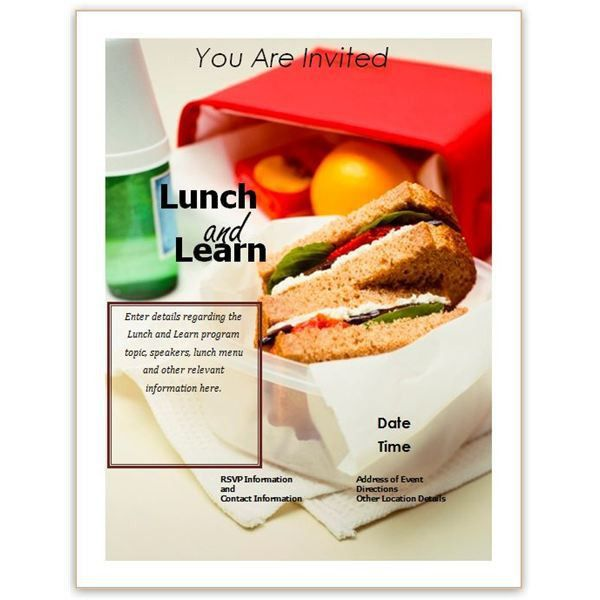 Lunch and Learn Flyer Templates | Free Business Lunch and Learn ...