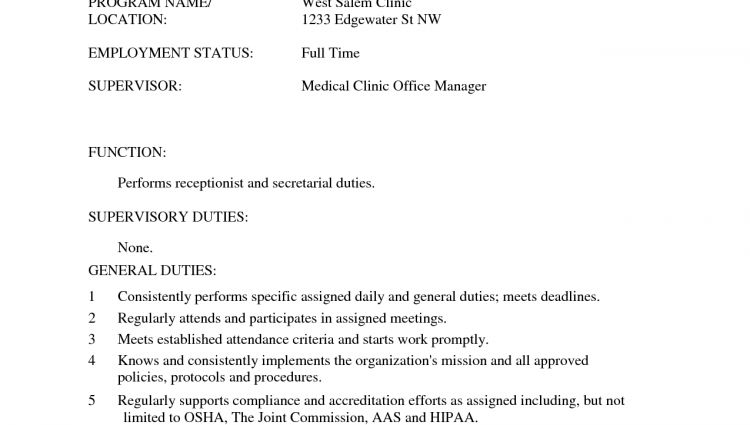 medical office assistant resume sample medical receptionist resume ...