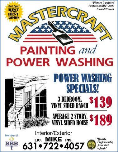 Flyerboard - Mastercraft Painting & Power Washing - Newsday