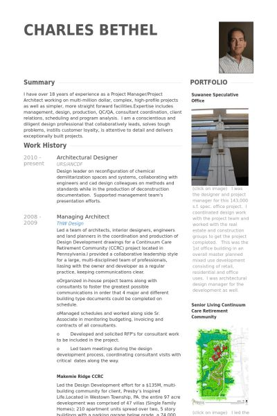 Architectural Designer Resume samples - VisualCV resume samples ...