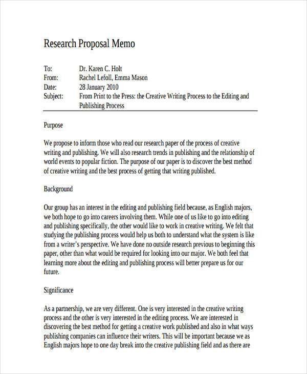 6+ Proposal Memo Examples, Samples