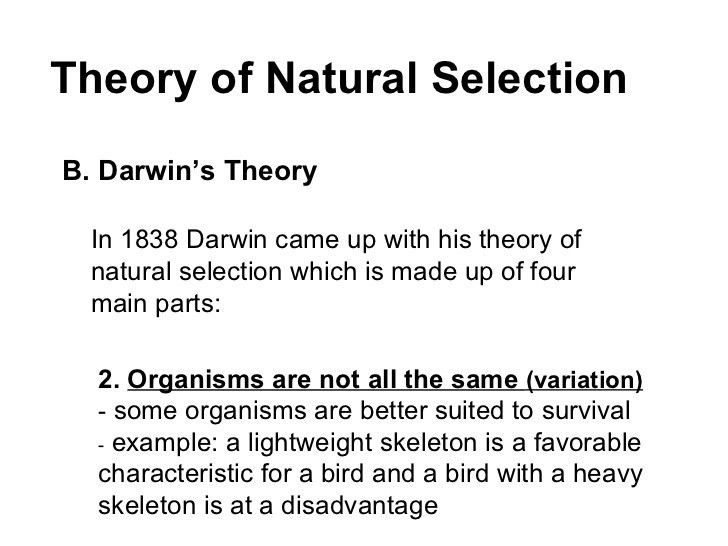 Topic 4 - Cell Theory and Natural Selection