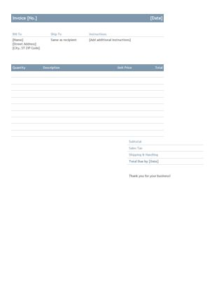Service invoice - Office Templates