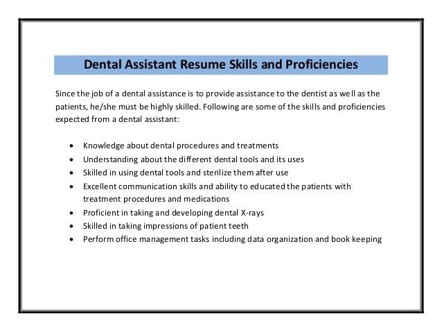 Nice Dental Assistant Job Description - SampleBusinessResume.com ...