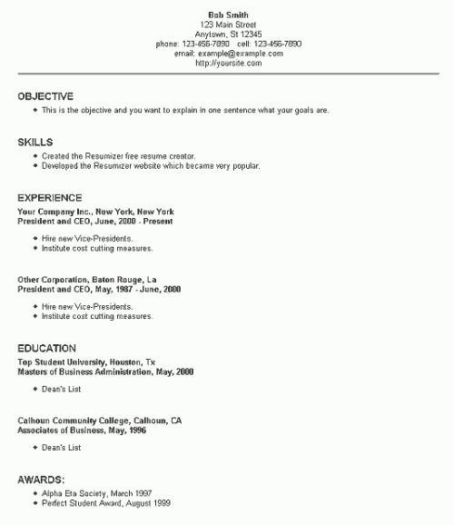 Download How To Set Up A Resume | haadyaooverbayresort.com
