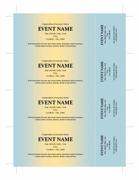 Banquet Ticket Template : Selimtd