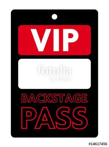 "PASS VIP BACKSTAGE"" Stock image and royalty-free vector files on ..."