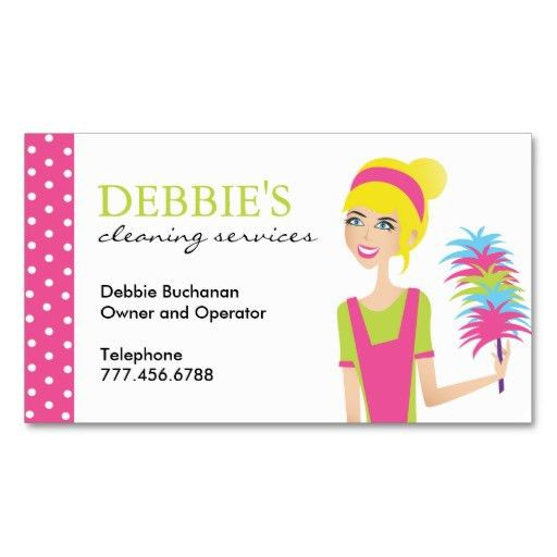 Whimsical House Cleaning Services Business Cards Business Cards ...