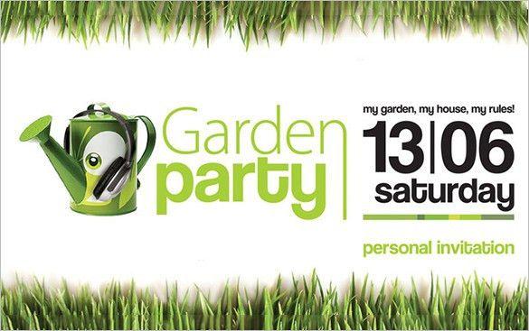 13+ Printable PSD Garden Party Invitation Templates & Designs ...