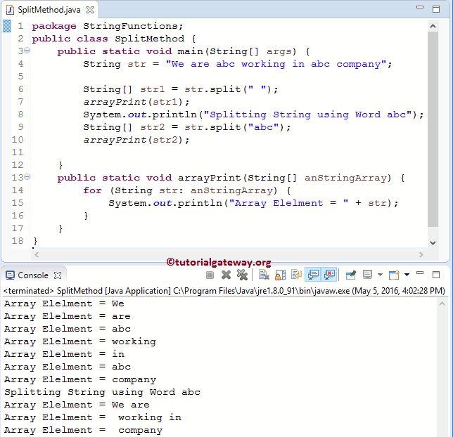 Java String Split Method
