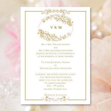 Printable Wedding Invitation Template Madelyn