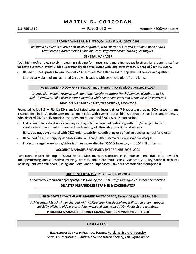 executive resume samples free 10 executive resume templates free