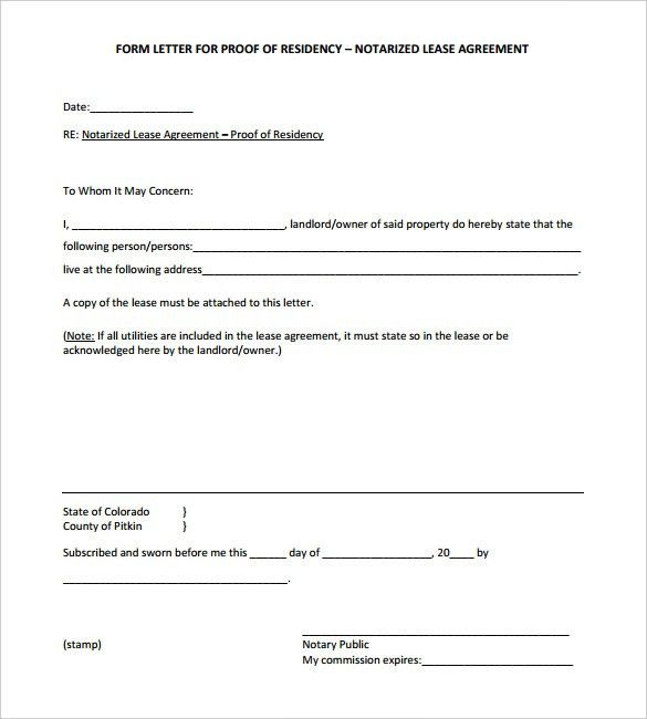 Notarized Letter Templates - 27+ Free Sample, Example Format ...