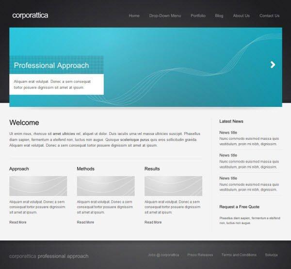 36 High Quality Templates & Tutorials To Design Business Website ...
