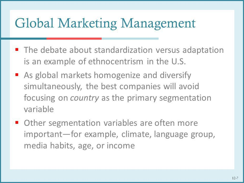 Global Marketing Management: Planning and Organization - ppt download