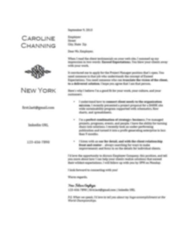 Cover Letter Sample For Resume Email 2 Easy Samples Regarding 17 ...