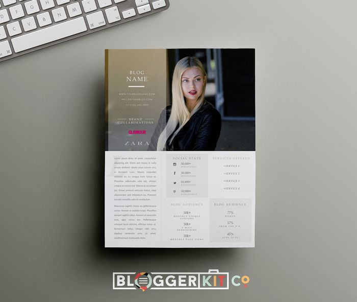 Free Media Kit Template for Bloggers - Beautiful Dawn Designs