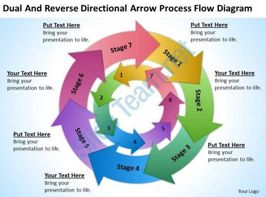 Business Use Case Diagram Example Directional Arrow Process Flow ...