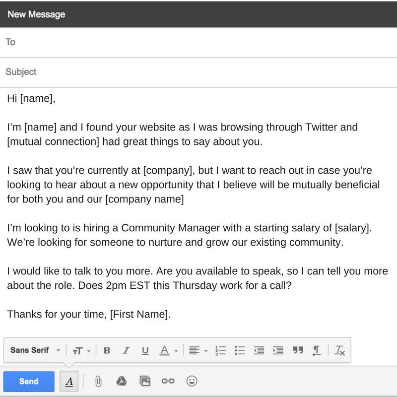 How to personalize a cold email to a candidate (+ Free Templates ...