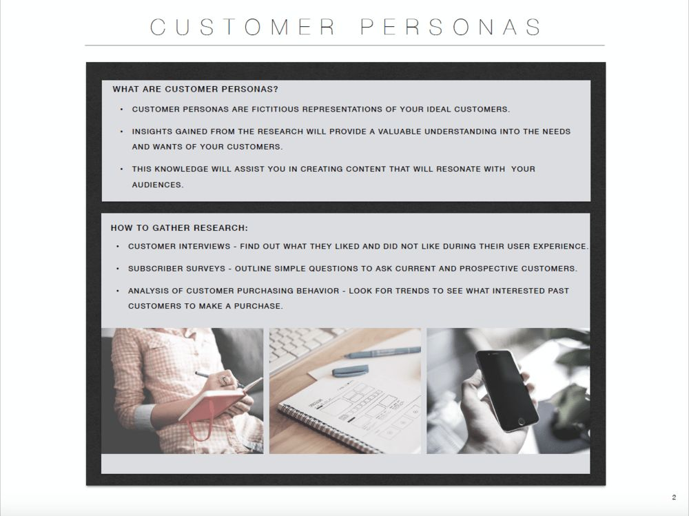 Written & Styled — Free Customer Persona Template