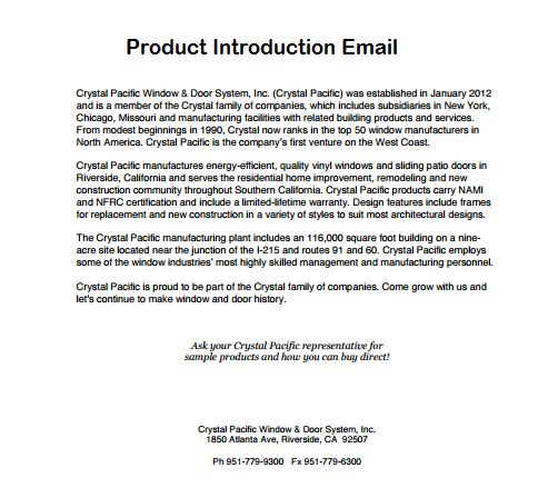 Product Introduction Email Format Archives - Sample Letter