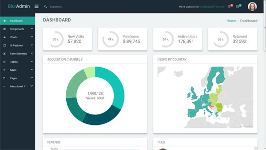 50+ Free Boostrap Admin Dashboard Templates 2017 - Best jQuery