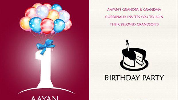 1st Birthday Invitation Card - Freebies Gallery