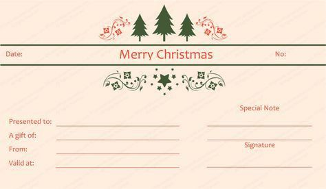 Christmas gift certificate template | Beautiful Printable Gift ...