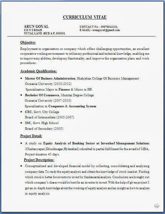 Sample Resume For Mba Graduate - Gallery Creawizard.com