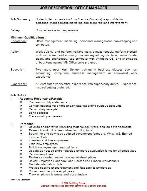 resumes for office manager office manager cv sample general. top 8 ...