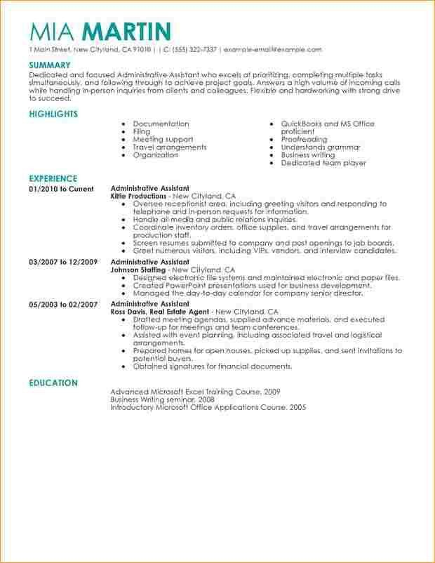 Administrative assistant resume sample - Business Proposal ...