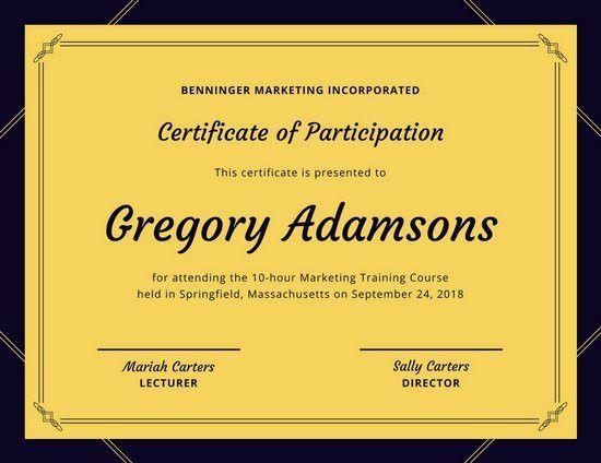 Attendance Certificate Templates - Canva