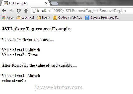 JSTL Core <c:remove> Tag | Java Web Tutor