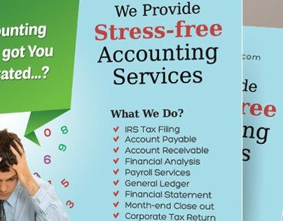 Accounting and Bookkeeping Services Flyers on Behance