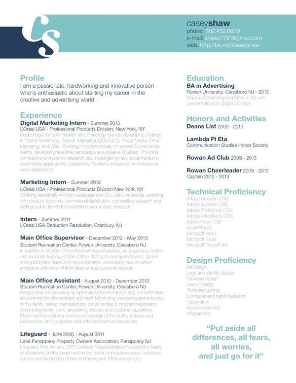 59 best Resume! images on Pinterest | Resume ideas, Resume ...
