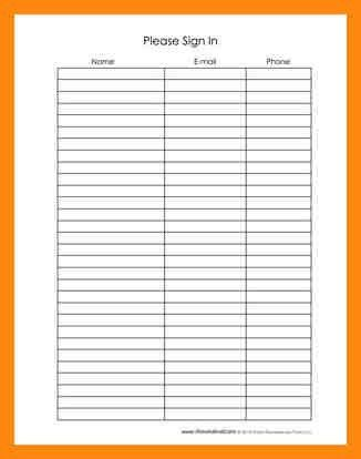 6+ blank sign up sheets | manager resume